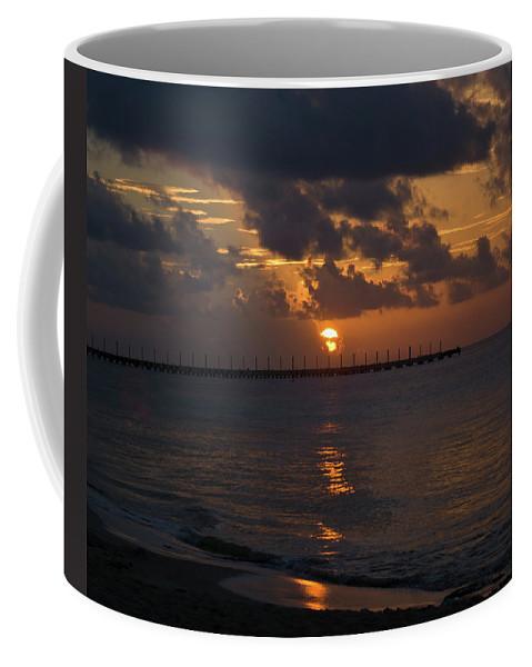 Sunrise Coffee Mug featuring the photograph Caribbean Early Sunrise by Douglas Barnett