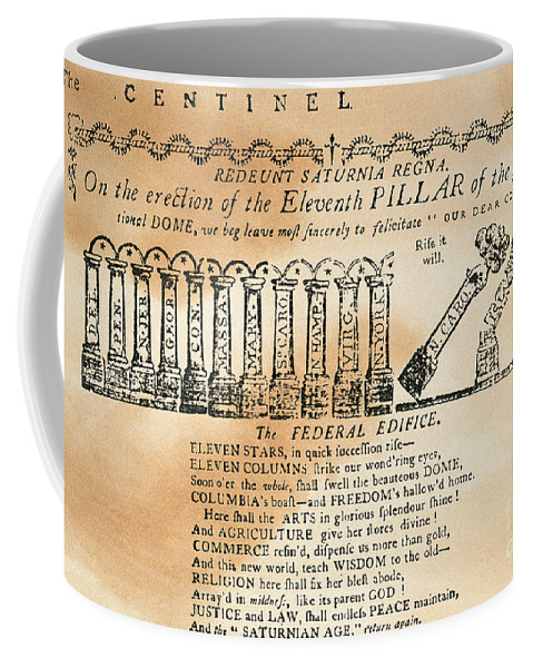 1788 Coffee Mug featuring the photograph Cartoon: Constitution by Granger