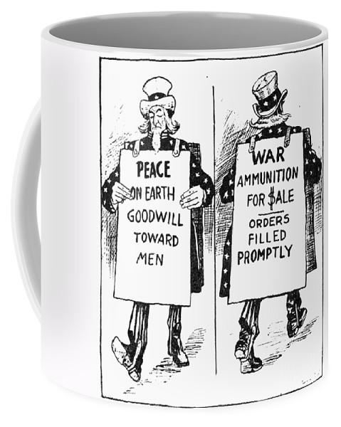 1917 Coffee Mug featuring the photograph Cartoon: U.s. Neutrality by Granger