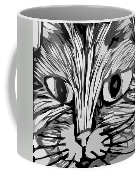 Cats Coffee Mug featuring the digital art Cat by Michelle Calkins
