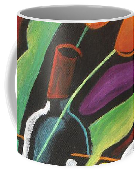 Vine Coffee Mug featuring the painting Celebration by Vesna Antic