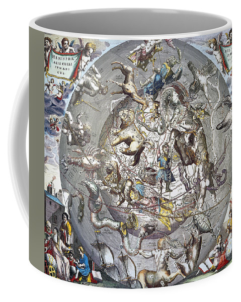 1660 Coffee Mug featuring the photograph Celestial Planisphere, 1660 by Granger