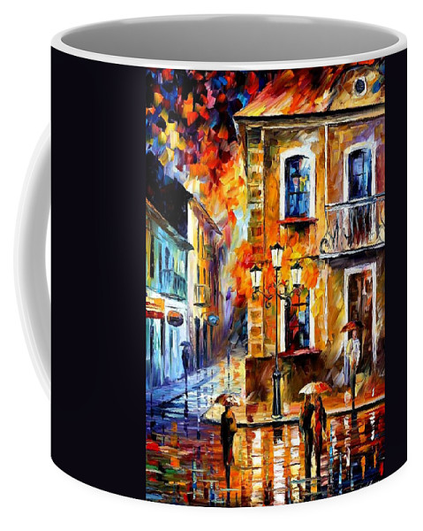 Afremov Coffee Mug featuring the painting Charming Night by Leonid Afremov