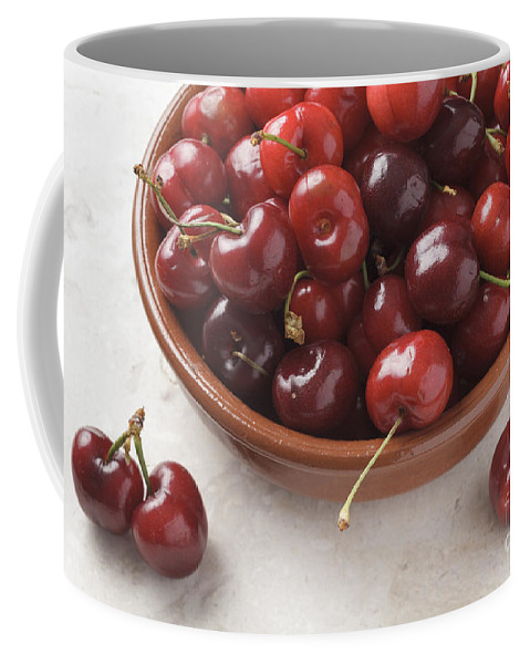 Places Coffee Mug featuring the photograph Cherries by Julie Woodhouse