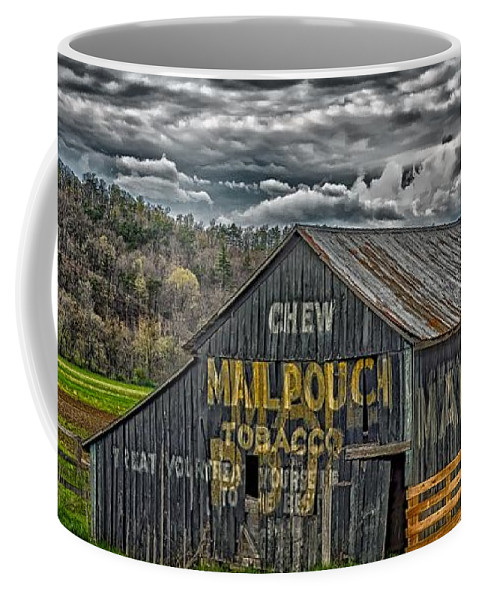 West Virginia Coffee Mug featuring the photograph Chew Mail Pouch by Mountain Dreams