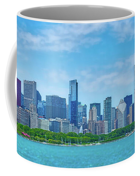 Chicago Coffee Mug featuring the photograph Chicago Skyline by Izet Kapetanovic