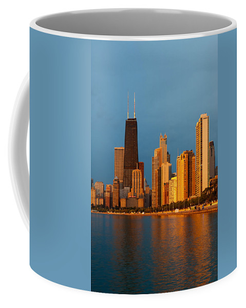 Chicago Coffee Mug featuring the photograph Chicago Skyline by Sebastian Musial