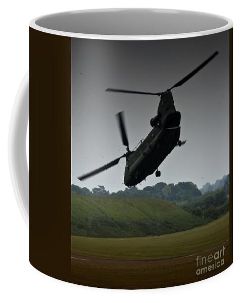 Aircraft Coffee Mug featuring the photograph Chinook by Angel Tarantella