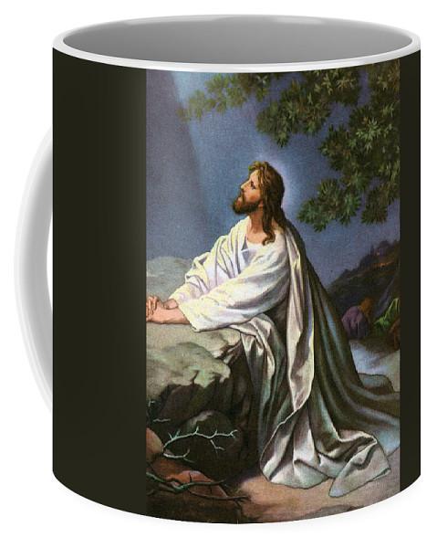 Garden Coffee Mug featuring the painting Christ in the Garden of Gethsemane by Heinrich Hofmann
