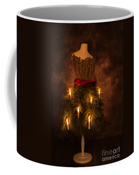 Christmas Coffee Mug featuring the photograph Christmas Candles by Amanda Elwell