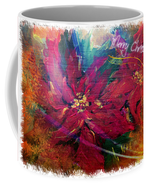 Christmas Coffee Mug featuring the painting Christmas Star by Vesna Martinjak