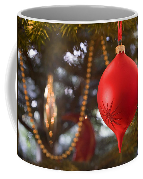 Christmas Coffee Mug featuring the photograph Christmas Tree Decorations by Mal Bray