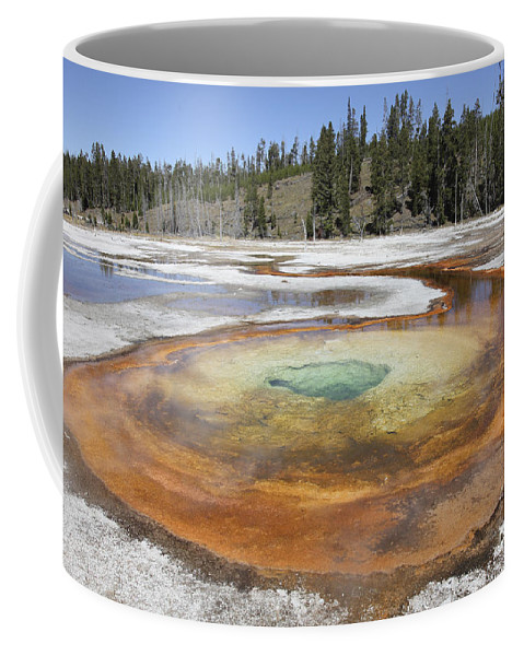 Unesco Coffee Mug featuring the photograph Chromatic Pool Hot Spring, Upper Geyser by Richard Roscoe