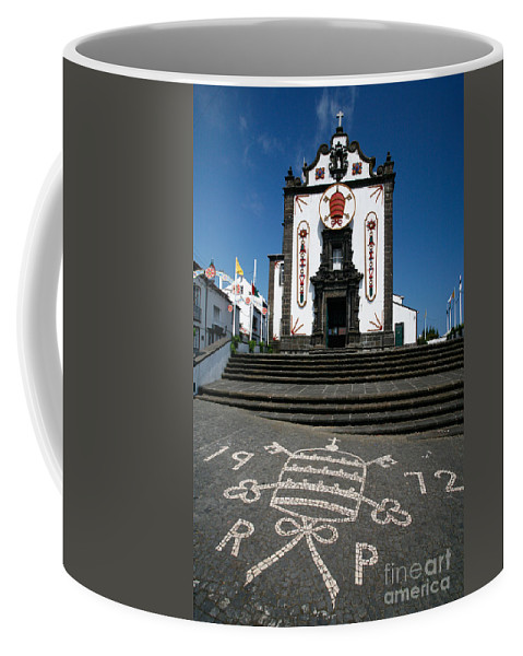 Architecture Coffee Mug featuring the photograph Church In The Azores by Gaspar Avila