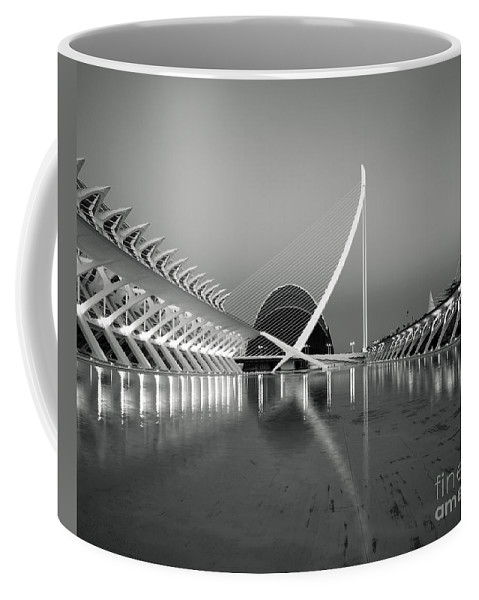 Architecture Coffee Mug featuring the photograph City Of Arts And Sciences by Julie Woodhouse