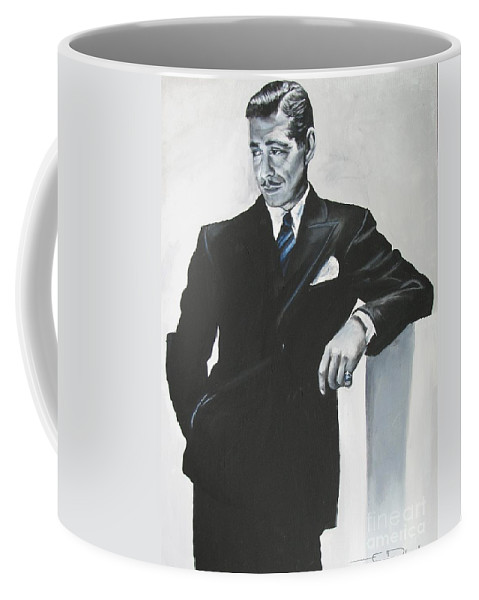 Clark Gable Coffee Mug featuring the painting Clark Gable by Eric Dee