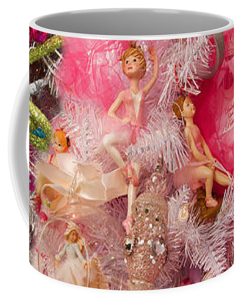 Photography Coffee Mug featuring the photograph Close-up Of Toys On Christmas Tree by Panoramic Images