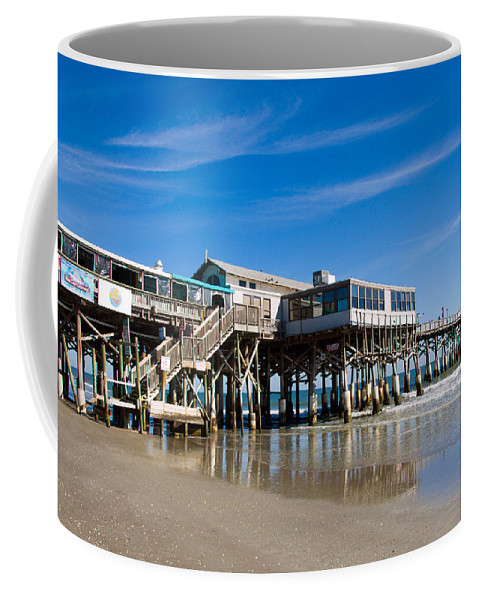 Florida; Cocoa; Beach; Atlantic; Ocean; East; Space; Coast; Brevard; Central; Pier; Surf; Surfing; F Coffee Mug featuring the photograph Cocoa Beach Florida by Allan Hughes