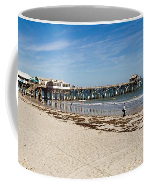Florida; Cocoa; Beach; Atlantic; Ocean; East; Space; Coast; Brevard; Central; Pier; Surf; Surfing; F Coffee Mug featuring the photograph Cocoa Beach In Florida by Allan Hughes