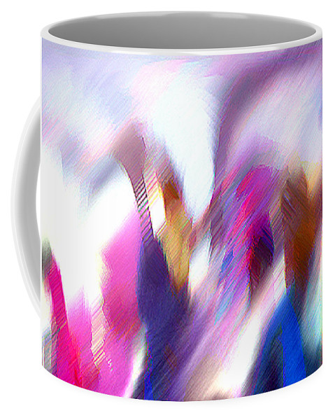 Digital Media Coffee Mug featuring the painting Color Dance by Anil Nene