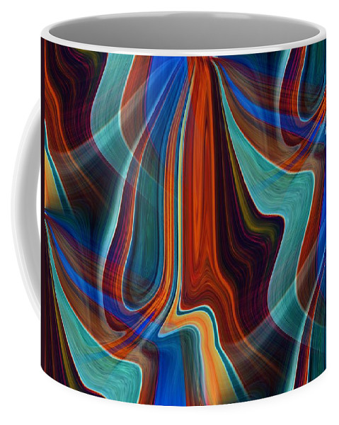 Colors Coffee Mug featuring the digital art Color Me Abstract by Tim Allen