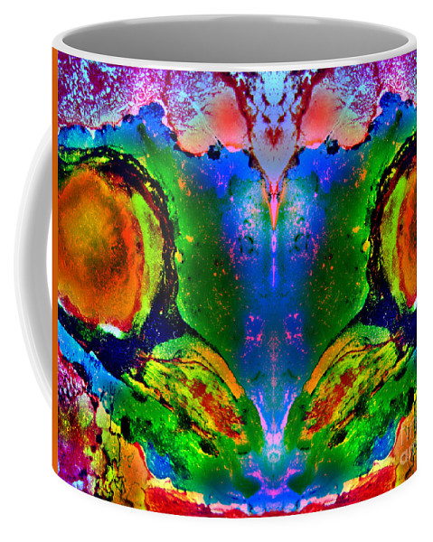 Abstract Coffee Mug featuring the painting Colorful Life by Jolanta Anna Karolska