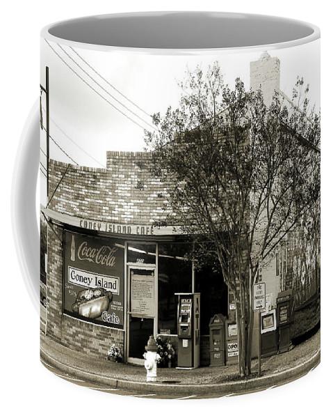 Coney Island Coffee Mug featuring the photograph Coney Island Cafe by Wayne Archer
