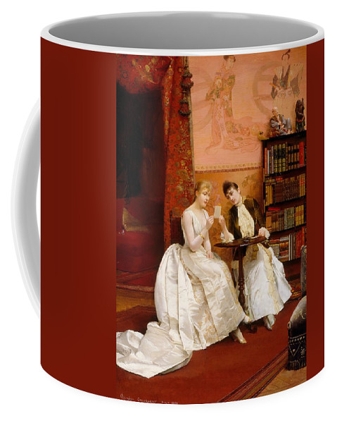 Painting Coffee Mug featuring the painting Confidences by Mountain Dreams