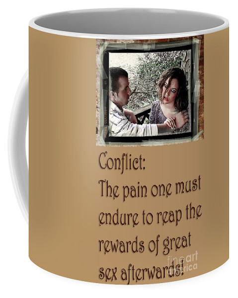 Clay Coffee Mug featuring the photograph Conflict by Clayton Bruster