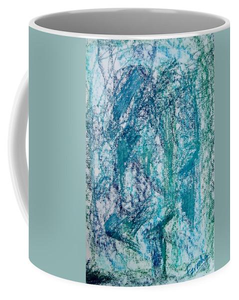Fareeha Khawaja Coffee Mug featuring the pastel Confounded by Fareeha Khawaja