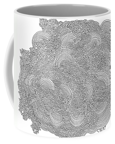 Mazes Coffee Mug featuring the drawing Confusion by Steven Natanson