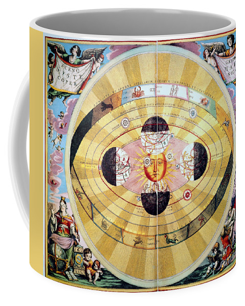 1660 Coffee Mug featuring the photograph Copernican Universe, 1660 by Granger