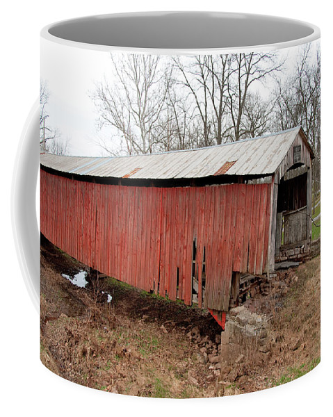 Bridge Coffee Mug featuring the photograph Covered Bridge by David Arment