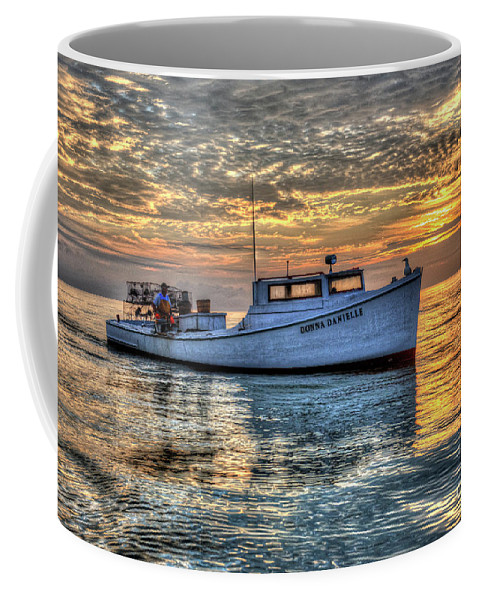 Smith Island Coffee Mug featuring the photograph Crabbing Boat Donna Danielle - Smith Island, Maryland by Greg Hager