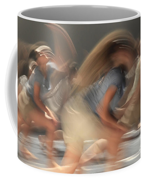 Motion Coffee Mug featuring the photograph Dancers In Motion by Vladi Alon