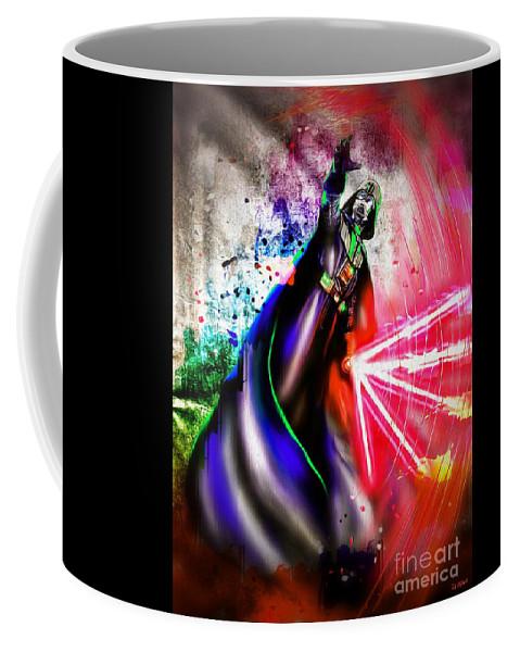 Darth Vader Sw Coffee Mug featuring the painting Darth Vader Sw by Daniel Janda