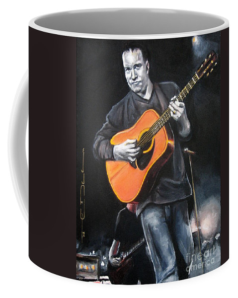 Dave Mathews Coffee Mug featuring the painting Dave Mathews Band by Eric Dee