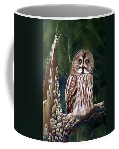 Wildlife Coffee Mug featuring the painting Deep In The Woods by Frank Wilson