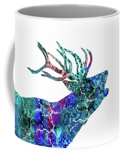 Deer Coffee Mug featuring the painting Deer by Rosalia S