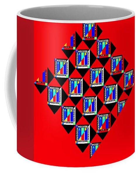Primary Colors Coffee Mug featuring the painting Diamond Red by Charles Stuart