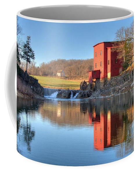 Grist Mill Coffee Mug featuring the photograph Dillard Mill by Steve Stuller