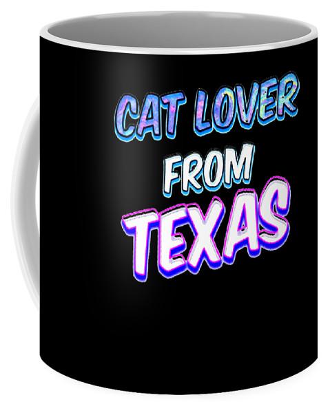 Cat Coffee Mug featuring the digital art Dog Lover From Texas by Kaylin Watchorn