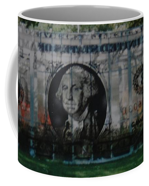 Park Coffee Mug featuring the photograph Dollar Bill by Rob Hans