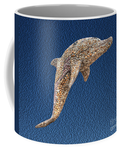 Captain Georges Coffee Mug featuring the photograph Dolphin Shell Art Sculpture by Greg Hager