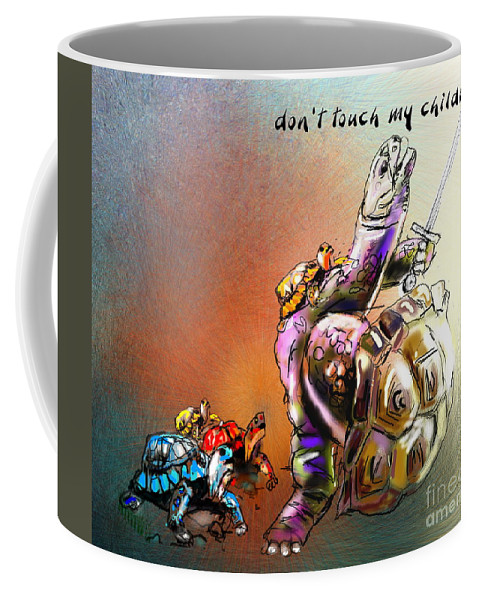 Turtle Painting Coffee Mug featuring the digital art Don by Miki De Goodaboom