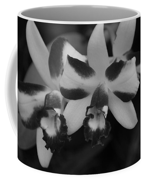 Macro Coffee Mug featuring the photograph Double Orchid by Rob Hans