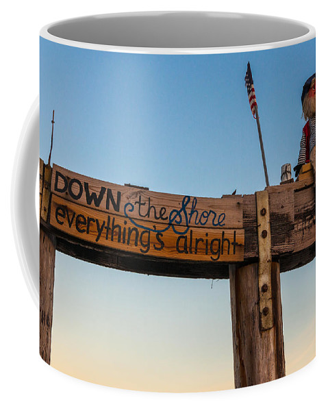 New Jersey Coffee Mug featuring the photograph Down the Shore by Kristopher Schoenleber
