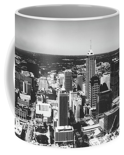 Bank One Tower Coffee Mug featuring the photograph Downtown Indianapolis by Library Of Congress