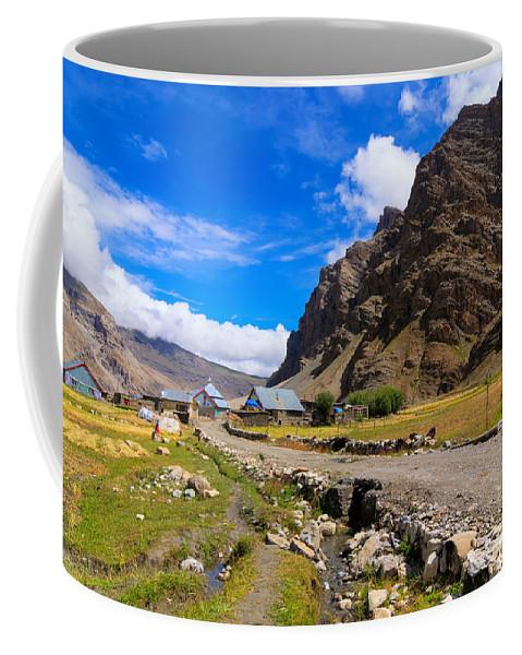 Drass Coffee Mug featuring the photograph Drass Village Kargil Ladakh Jammu And Kashmir India by Rudra Narayan Mitra