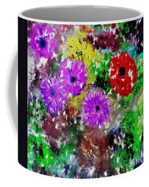 Landscape Coffee Mug featuring the digital art Dream Garden II by David Lane